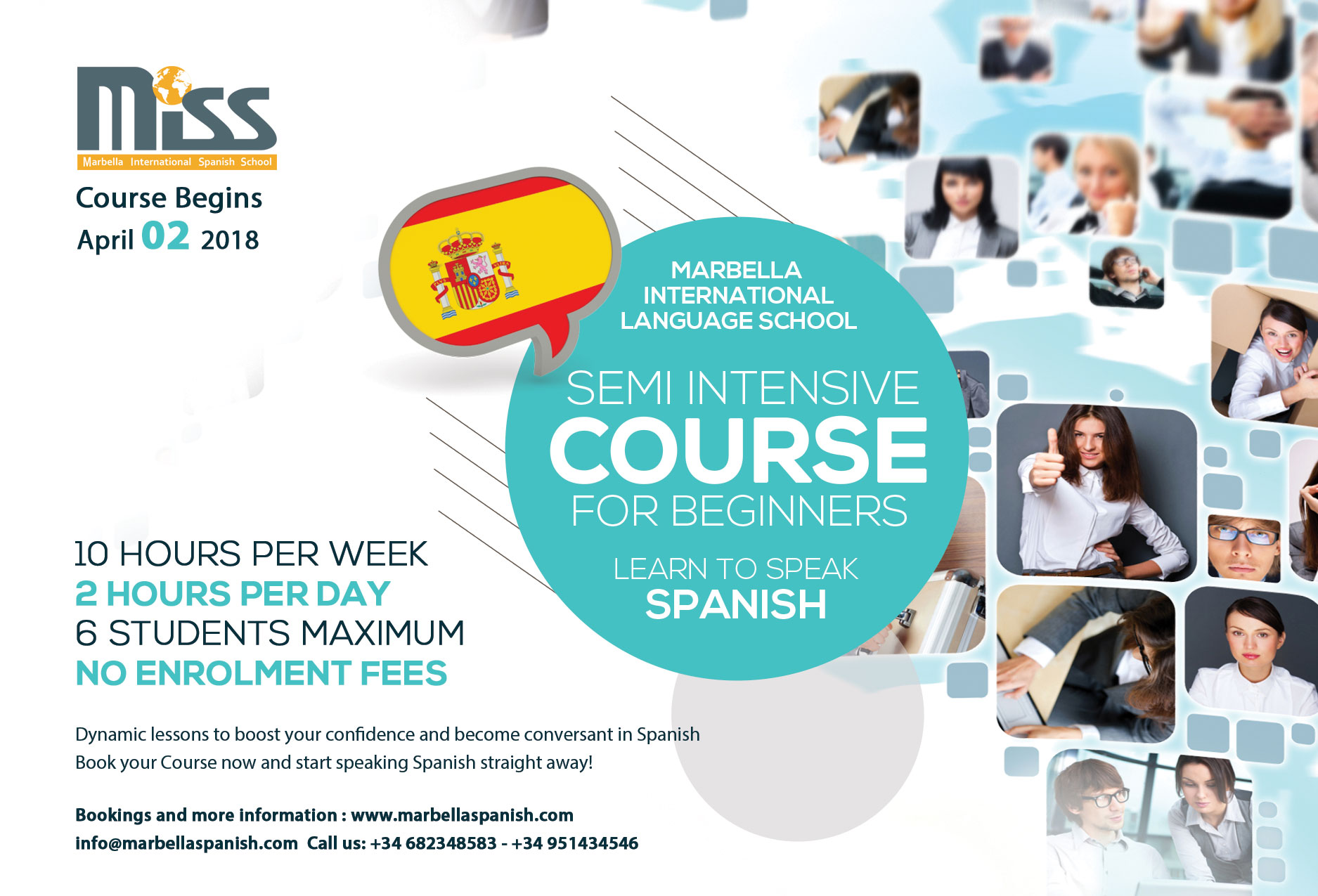 Intensive Spanish Course for Beginners marbella international spanish school.