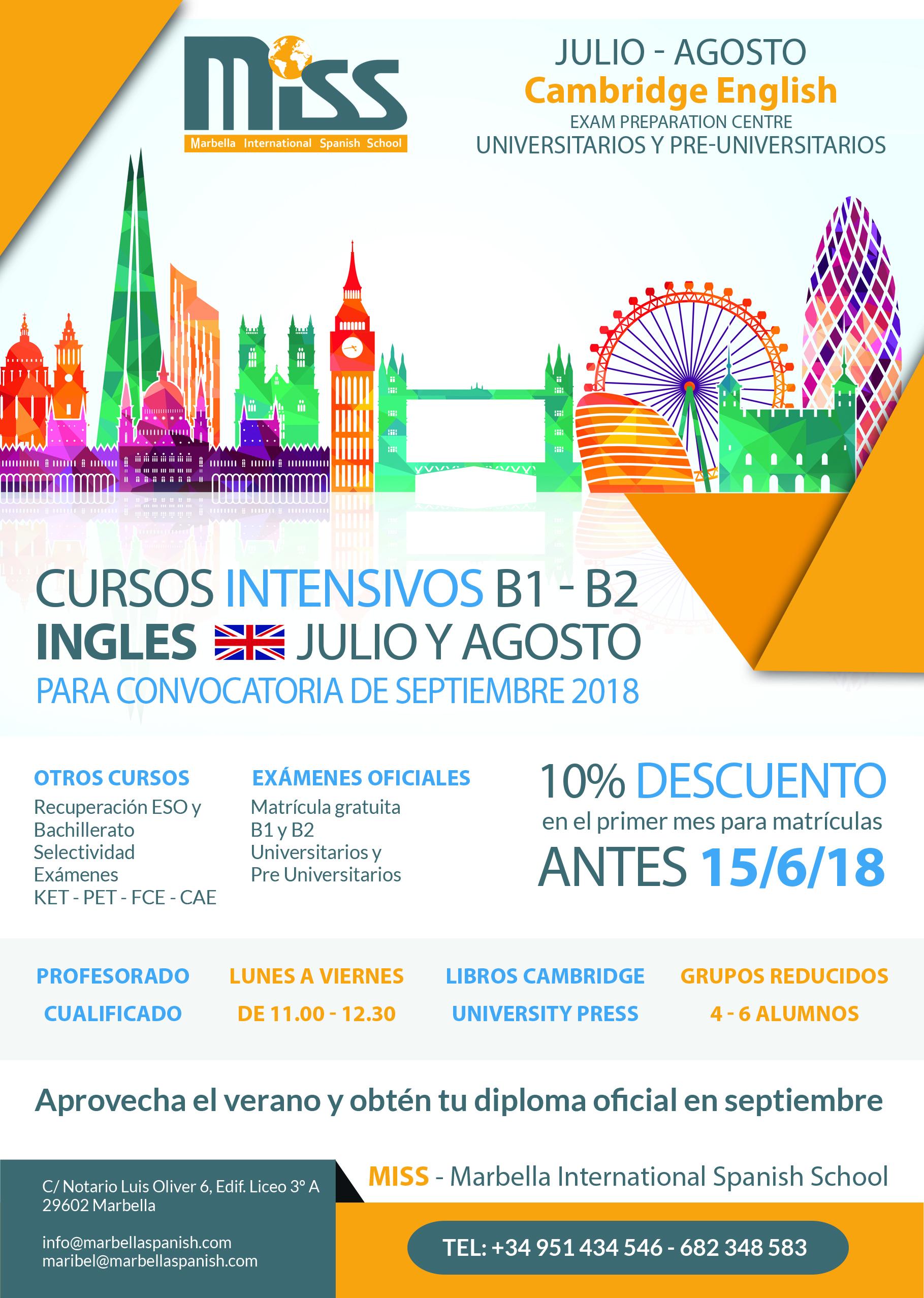 Cursos intensivos B14 & B2 Coursos de Ingles Marbella