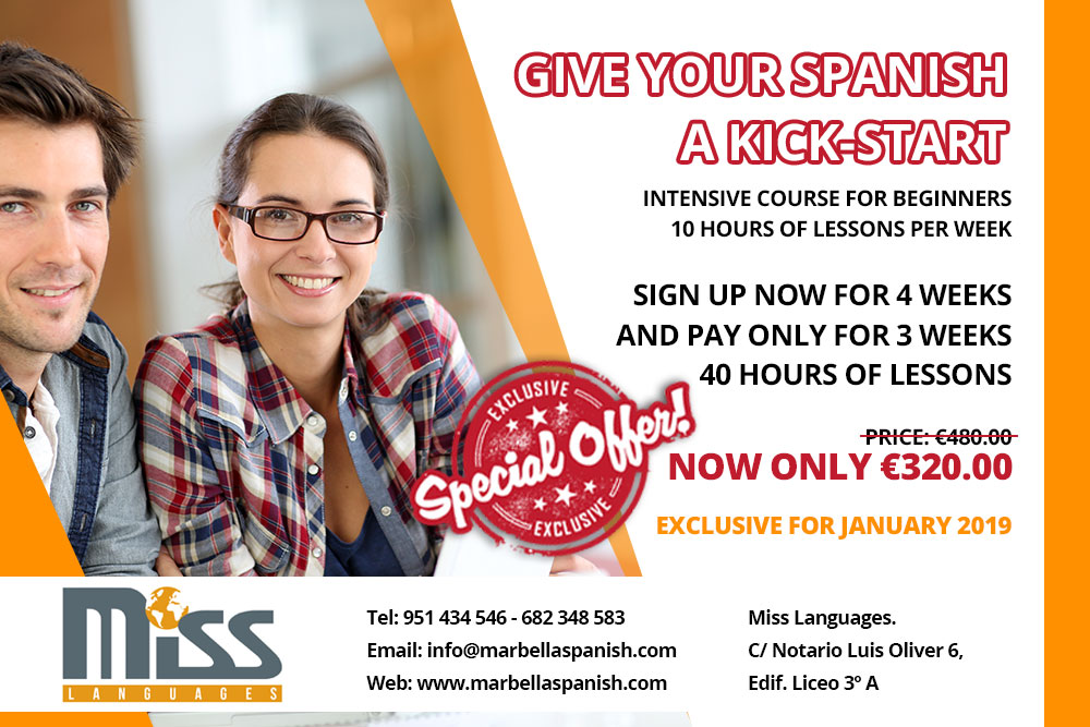 SPECIAL OFFER INTENSIVE COURSE FOR BEGINNERS - 10 HOURS OF LESSONS PER WEEK